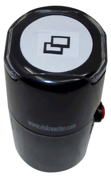 SDOUBLESQUARE1RD Double Square Round Self Inking Hand Stamper