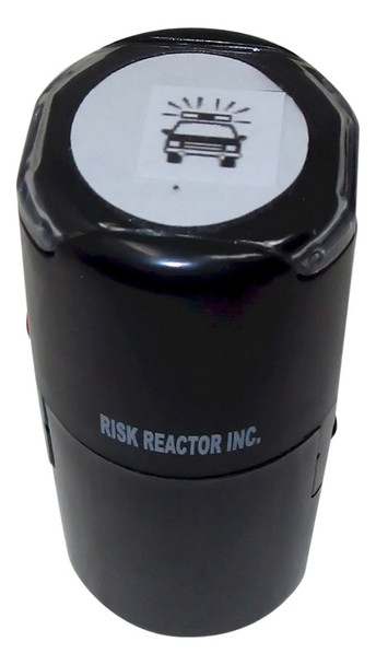SPOLICE1RD Black-lite Police Round Self Inking Party Rubber Stamper