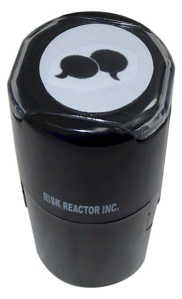 S3QUESTIONS1RD Three Questions Image on Round UV Self Inking Stamper