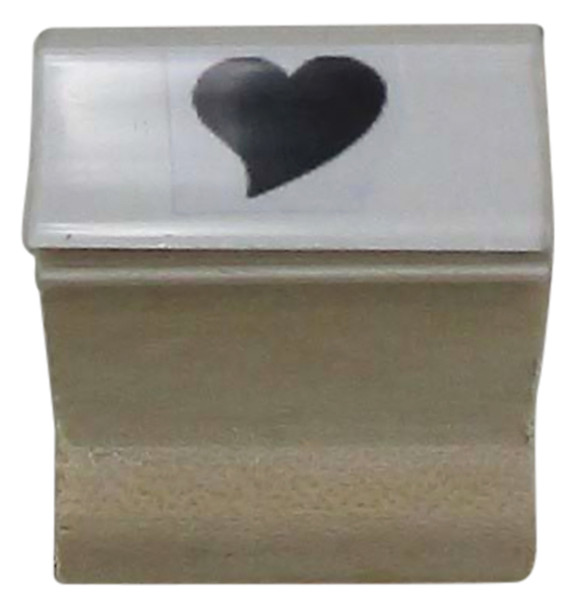 SSOLIDHEARTW Solid Heart Walnut Readmission Hand Stamp