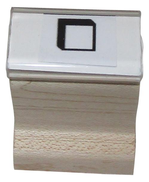 SSQUAREW Square Walnut Handle Invisible Black Light Stamp