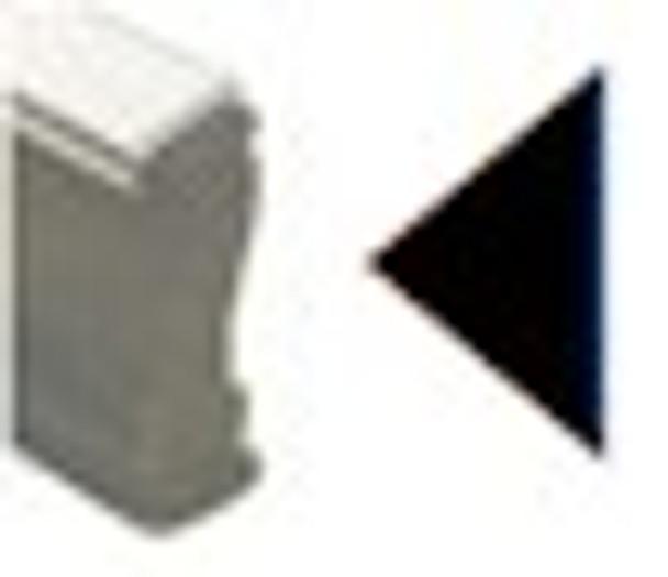 SLEFTARROWW Left arrow on plastic handle uv fluorescent stamps