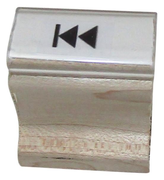 Double Left Arrow Walnut Handle UV Hand Stamp SDOUBLELEFTARROWW