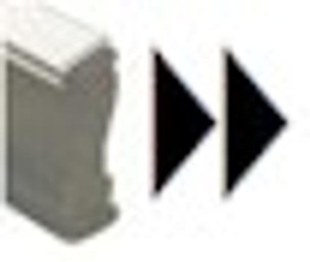 SDOUBLERIGHTARROWW Fast forward double arrow uv fluorescent stamps