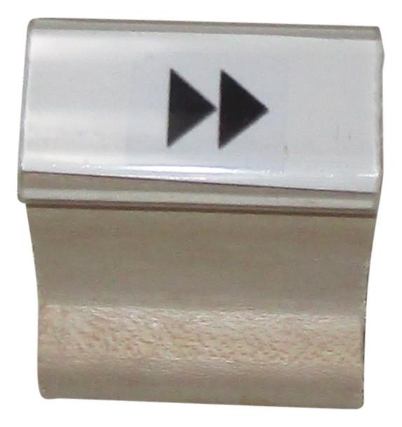 SDOUBLERIGHTARROWW  Double Right Arrow Walnut Handle Stamp
