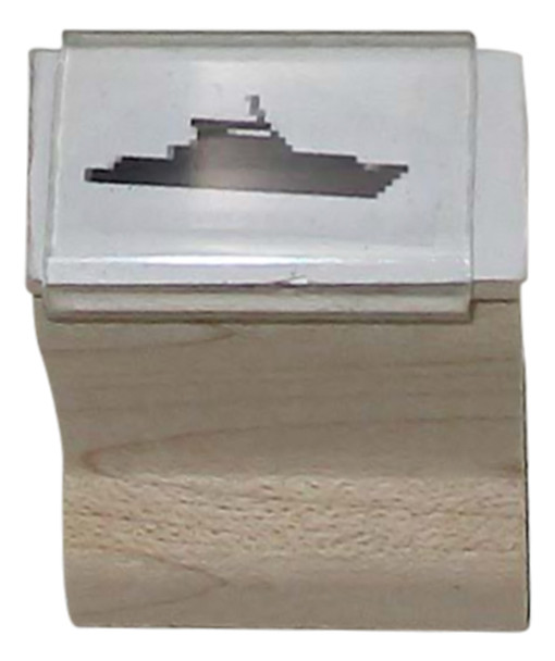 SBOATW Boat Walnut Handle Party and Event Rubber Stamp