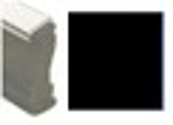 Solid black box image on a UV wood hand stamp SSOLIDBOXW