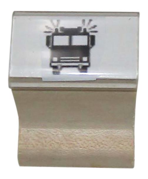 SFIRETRUCKW Fire Truck Walnut Handle Black Light Rubber Stamp