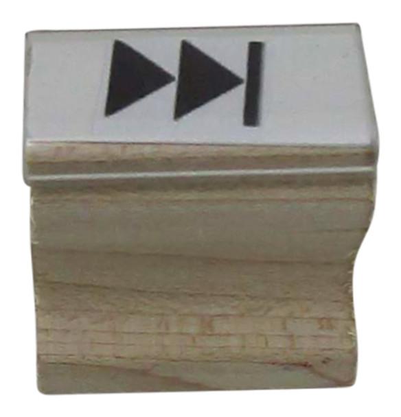SFORWARDW Fast Forward Image Wood Hand Stamps