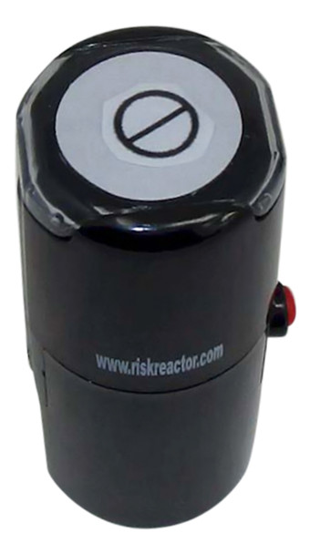 SCIRCLELINE1RD Circle and Line Round Self Inking Rubber Hand Stamper