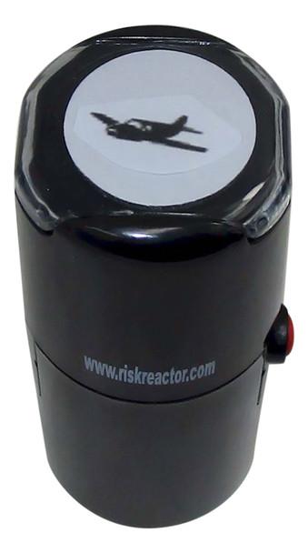 SPROPPLANE1RD Prop Plane Self Inking UV Event Rubber Stamper