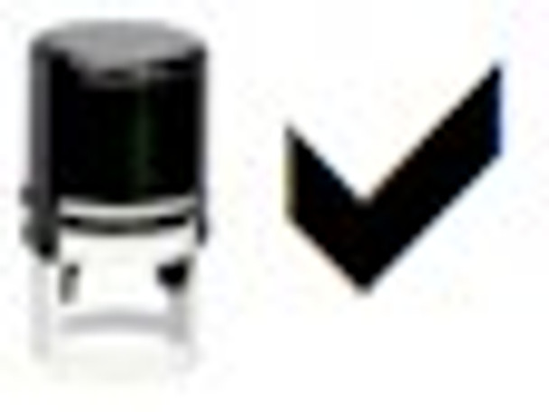 Black light check stamper used with regular ink and our special non toxic readmission UV ink.