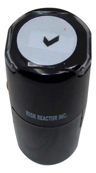SCHECK1RD Check Round Self Inking Invisible Black-lite Stamper