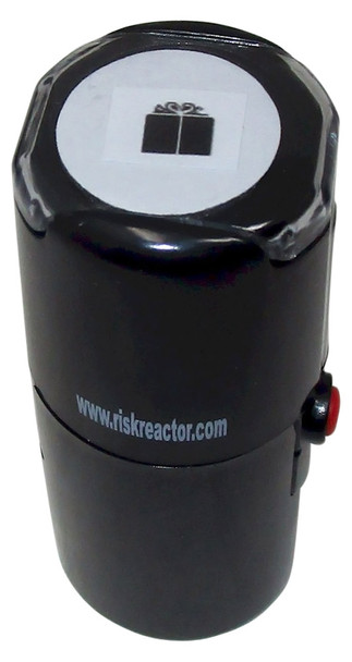 SGIFT1RD Image of a Gift Round Self Inking Black light Stamper