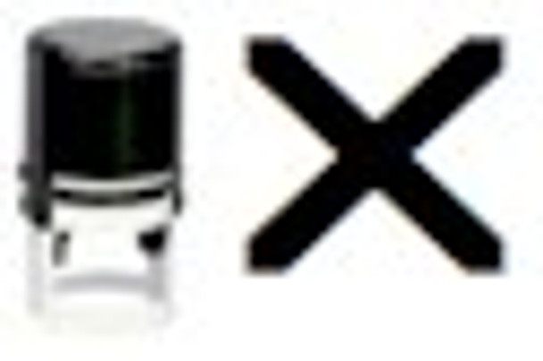 SX1RD UV self inking stamper with the letter marked X for the image.