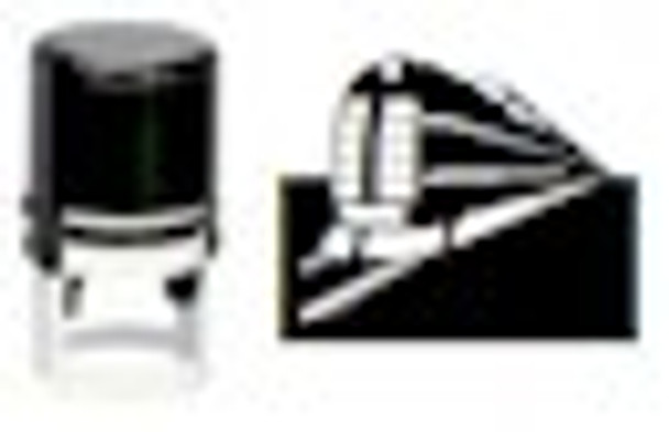 Train Round Self Inking Stamper for Fluorescent and Any Ink STRAIN1RD