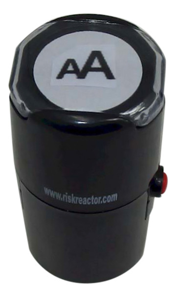 SAA1RD AA Image on a Round Self Inking Stampers for black light UV inks