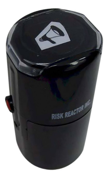 SMEGAPHONEOFF1RD Megaphone Round Self Inking Invisible Fluorescent Stamper