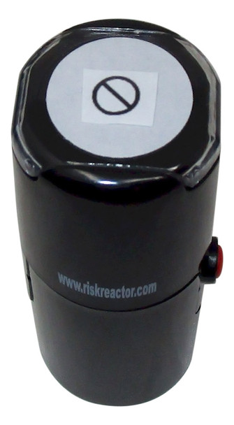 Image of international Symbol for No Round Self Inking UV Rubber Party Stamper SNO1RD