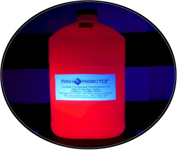 IFWA-C71GAL gallon of glowing invisible UV red black light stamping inks.