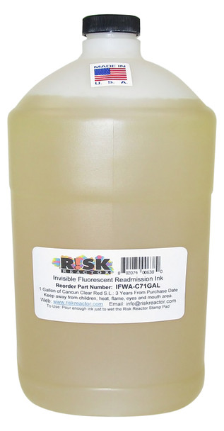 IFWA-C71GAL one Gallon Invisible Red Readmission Ink Fluorescent