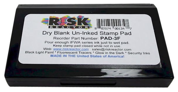 PAD3F Stamp Large Size with Felt Pad for Invisible Fluorescent Stamping UV inks