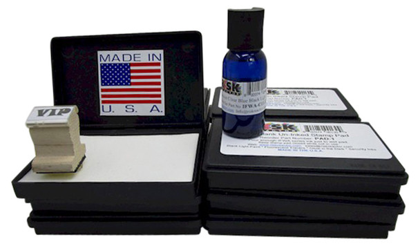 PAD3F50 Wholesale Pack of 50 Bulk Size Industrial Grade Solvent Stamp Pads