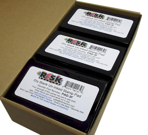 PAD3F100 Wholesale hundred Bulk Un-inked Stamp UV Pads