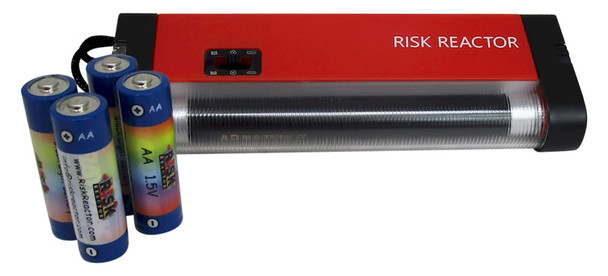 BNB4W Six Inch 4 Watt Blacklight with White LED with 4 AA Batteries Included