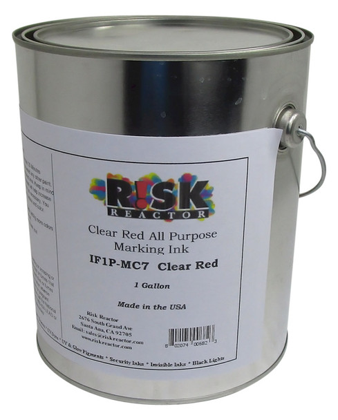 IF1P-MC71GAL Clear Red Invisible Black Light Ink Non Film Producing