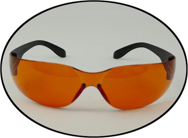 Copper blue blacklite safety glasses