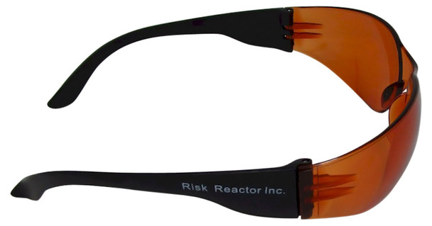 Copper blue sporty safety black light glasses UVSPORT-OBOX100 in bulk wholesale prices