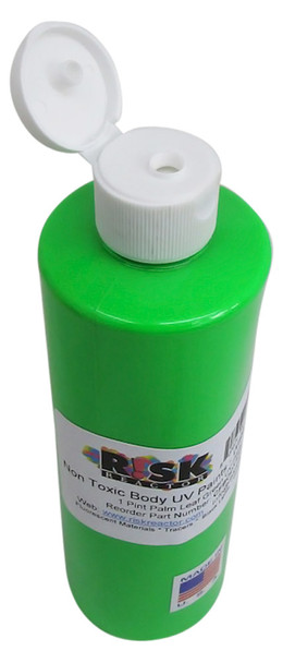 Pint fluorescent green visible paint CFBODY13PT in paint container