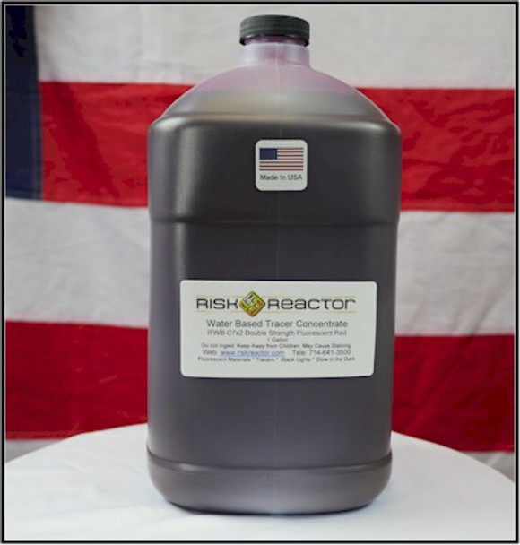 Double strength EPA Approved for drinking water with fluorescent red brightly color dyes.