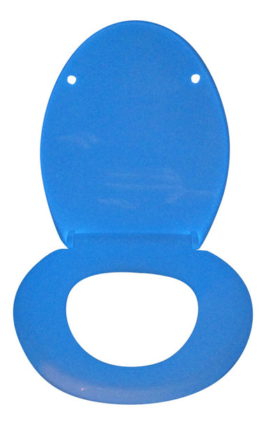 Elderly safety toilet seat GLOWSEAT-EB that glows blue at night
