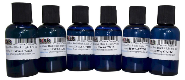 8PACK2OZC7 eight pack clear invisible red porous hand stamping inks