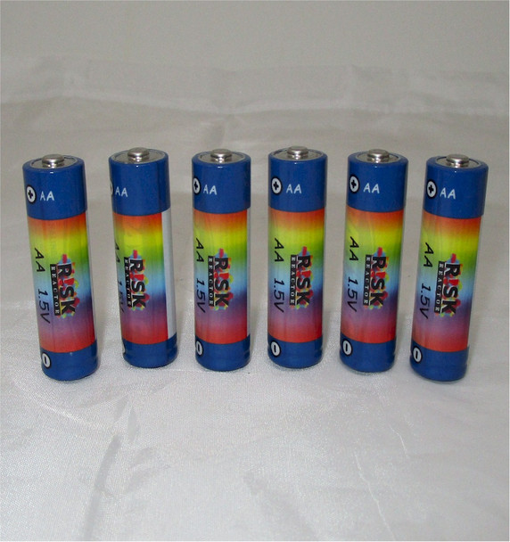BATAA-6PK Pack of 6 AA Black Lite Batteries Super Long Lasting Quality