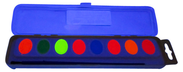 UVH2OCOLOR8 Fluorescent Water UV Paint Eight Color Kit