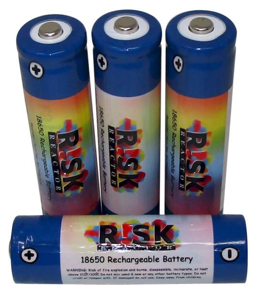 BAT18650X4 Set of Four Rechargeable 18650 Black Light Batteries