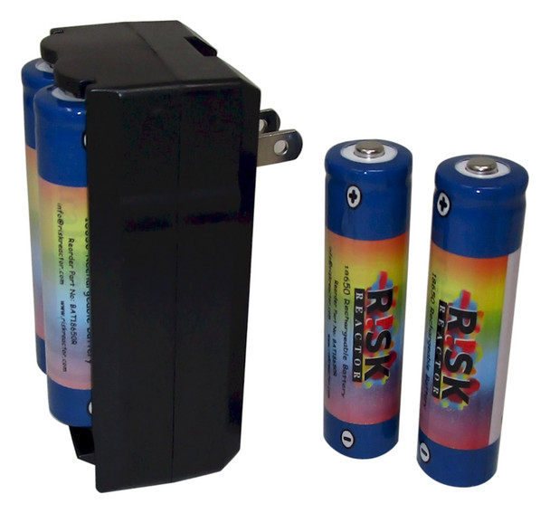 Complete 18650 recharging battery sets BATC18650X4
