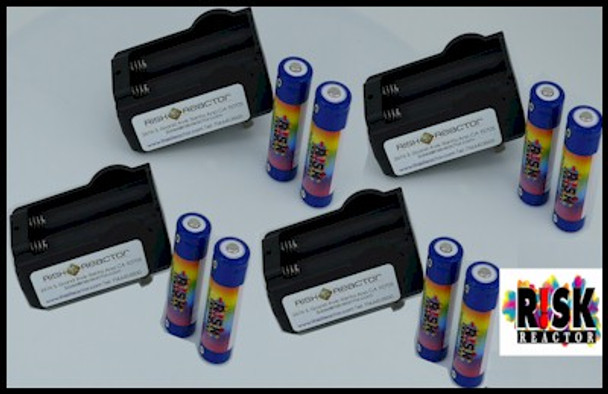 Volume 1650 rechargeable battery pack for black lights or any electronic device BATC18650X8
