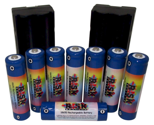 Eight 18650 Rechargeable Batteries BATC18650X8 with Four Dual Fast Chargers