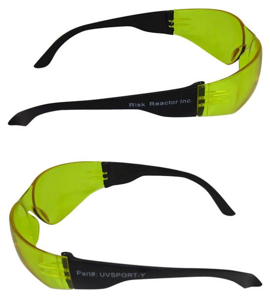 UVSPORT-YBOX3 Amber Lens Black Light Safety Glasses Box of 3