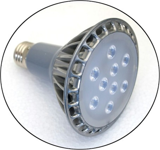 Eleven watt UV bulb black light lamp with spot Lens 30-Degree Beam Angle.