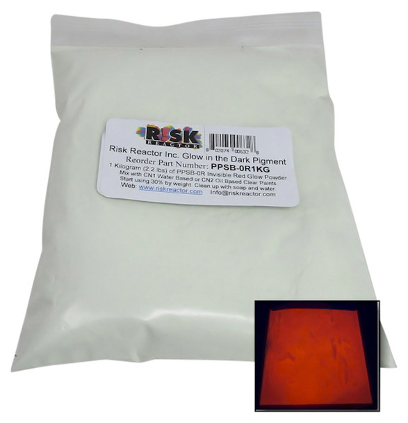 PPSB-0R1KG Kilogram of White to Red Glowing Arts and Crafts Powder