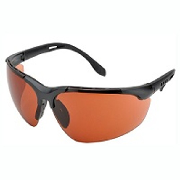 UVGLASS-OOBOX3 is box of three protective black light glasses with orange lens