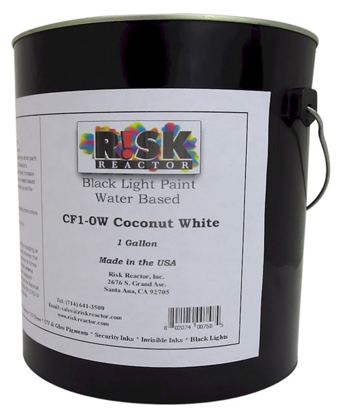 CF1-0W1GAL One Gallon of Coconut White Black Light Reactive Acrylic Paint