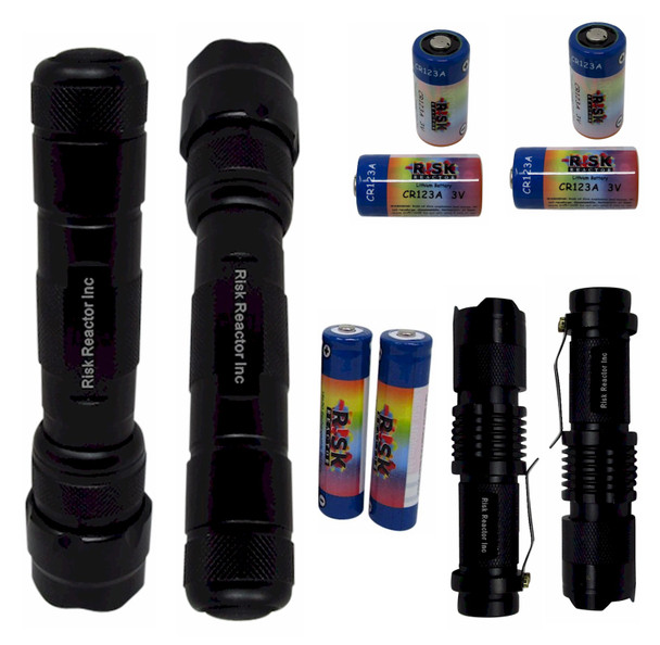 KB4S Super Tac and Mini Zoom Dual Wavelengths 365 NM and 395 NM with Batteries