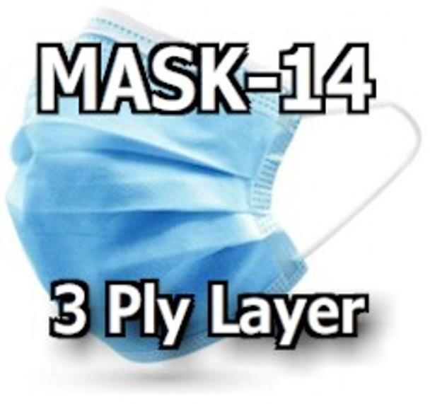 Pack of five face coverings for single use applications