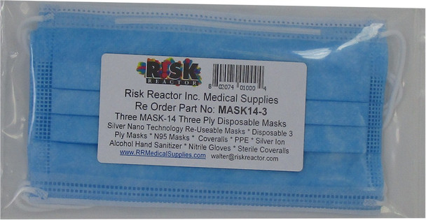 MASK14-3 Face Mask is built to cover the mouth, nose and chin while providing a comfortable and soft experience